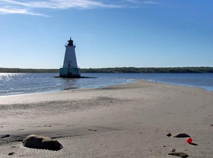 Sandy Point Lighthouse Beach Shelburne Nova Scotia